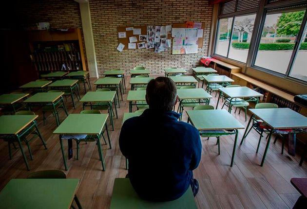 Un profesor en una clase