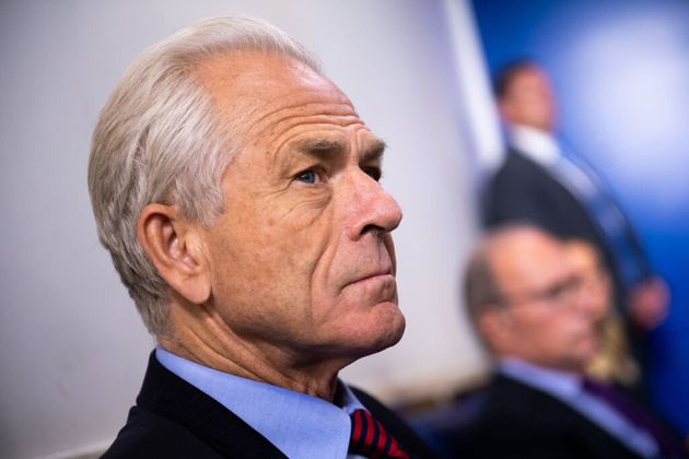 Peter Navarro appears during a news conference at the White House in Washington, D.C., on Aug. 14. Navarro...