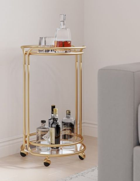 Beautiful Mini Bar Carts For Small Spaces And Every Budget Huffpost Life
