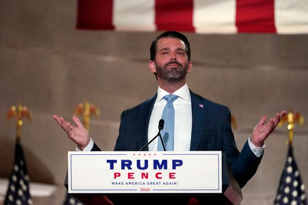 Donald Trump Jr. speaks at the Republican National Convention on Aug. 24,