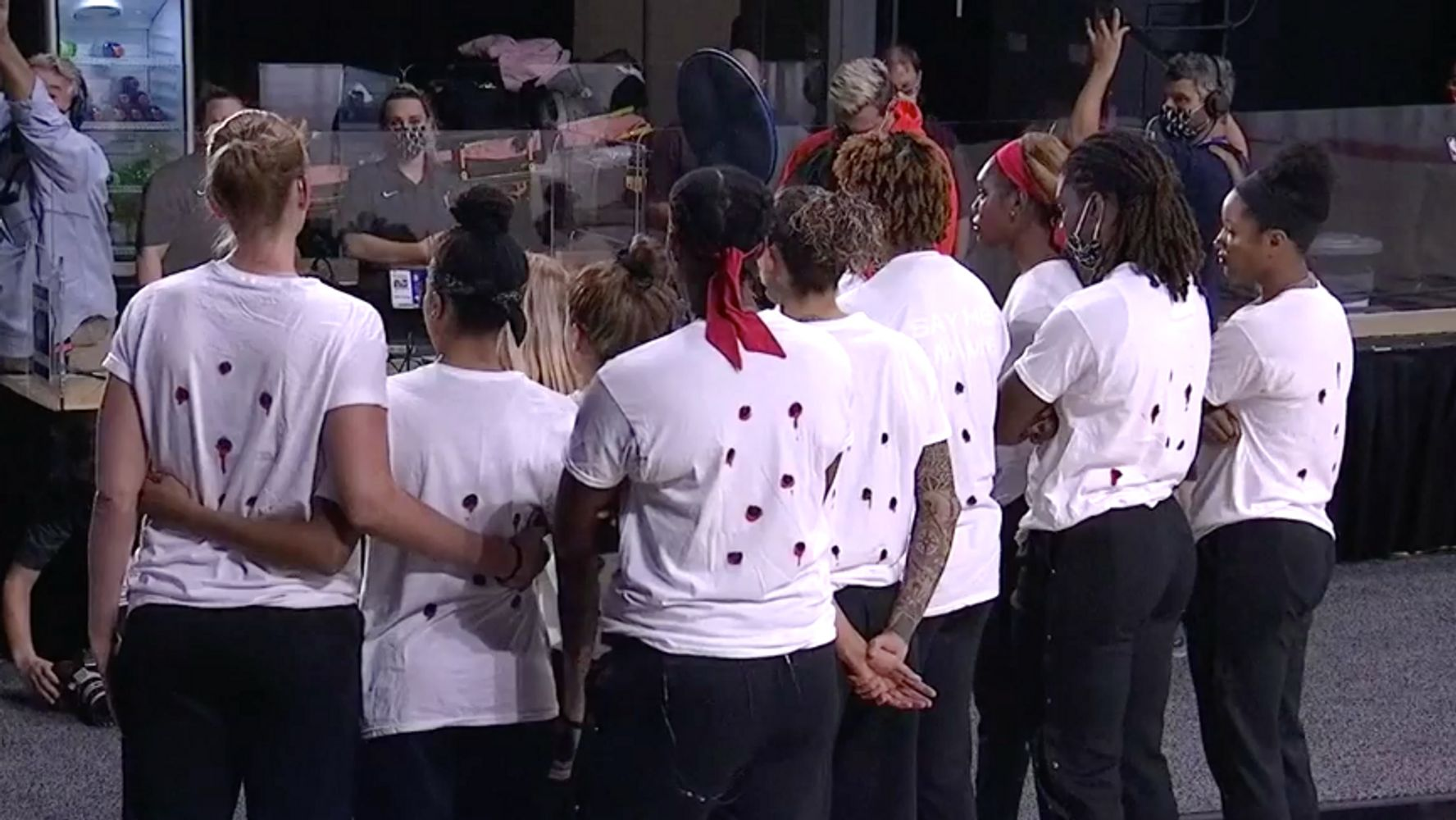 WNBA Players Wear Shirts With 'Bullet Holes'; Games Canceled In Protest | HuffPost
