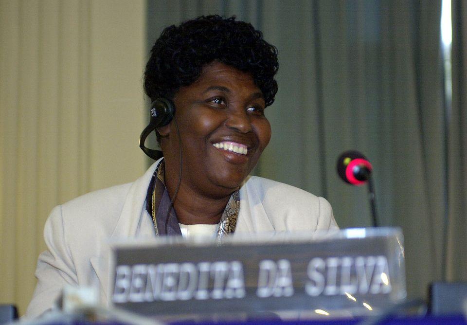 Então governadorado Rio de Janeiro Benedita da Silva discursou em uma reunião do...