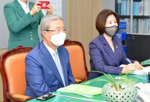 김종인 미래통합당 비상대책위원장, 김미애 동당