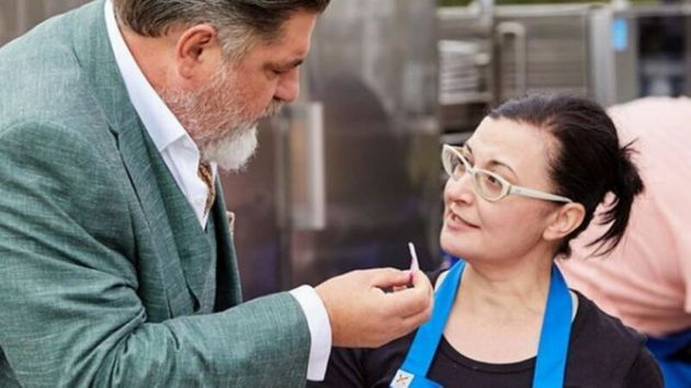 'MasterChef Australia' contestant Anushka Zargaryan with Matt Preston. She's got the 'popcorn ready'...