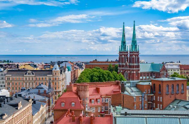 首都ヘルシンキの街並み