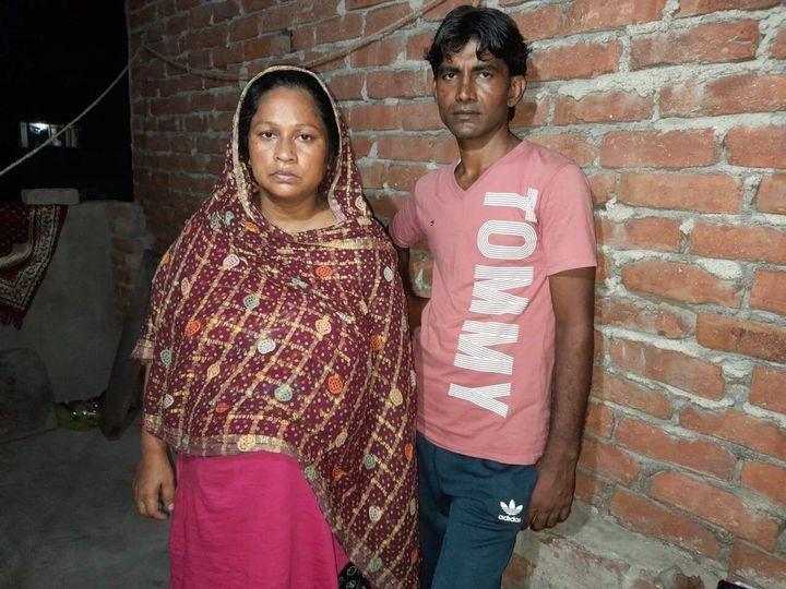Delhi riots survivor Rubina Bano and her husband Mo