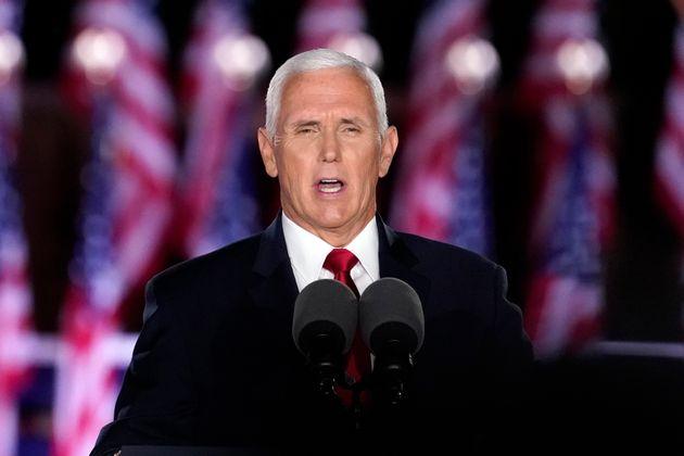 공화당 전당대회 셋째날인 26일, 마이크 펜스 부통령이 부통령 후보 수락연설을 하고