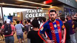 En colère après l'annonce de Messi, les supporters du Barça forcent l'entrée du Camp