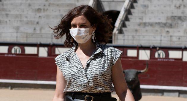 Isabel Díaz Ayuso, en la plaza de Las Ventas el pasado mes de