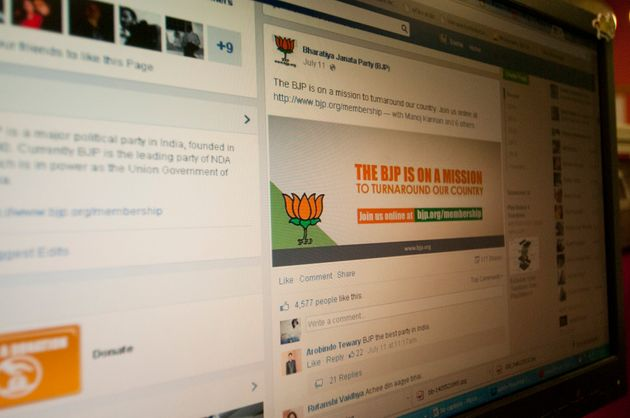 Screen grab of FB - BJP election campaign on social media on March 29 2014 in New