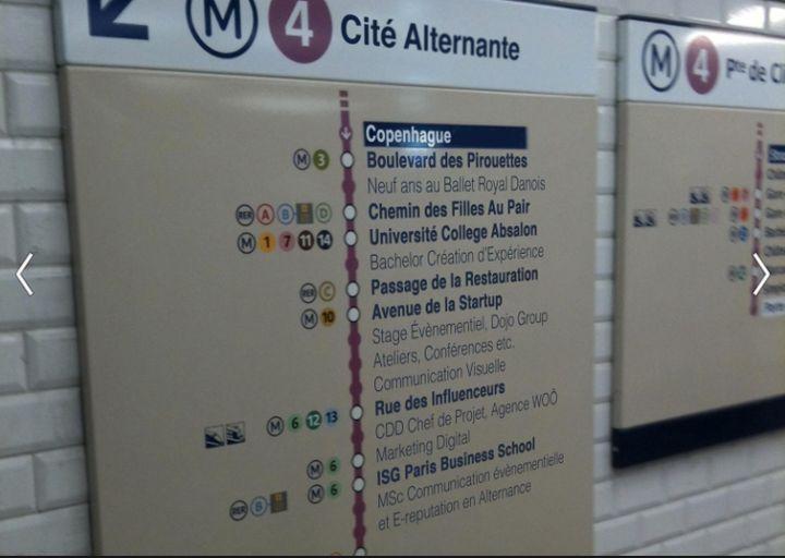 Le CV métro RATP de Cecilie Wamberg.