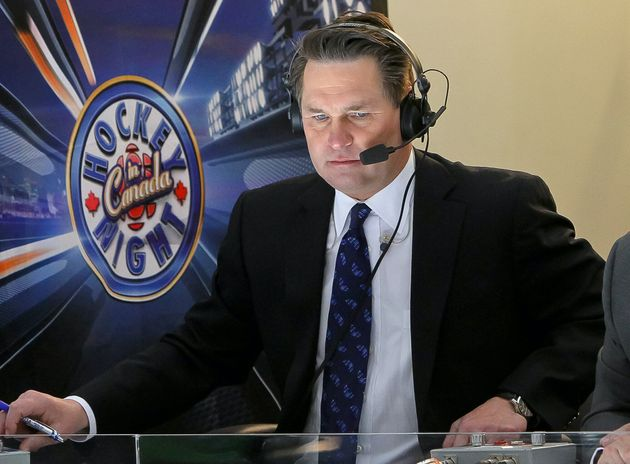 CBC hockey broadcaster Kelly Hrudey watches an NHL game in Winnipeg in 2014. The former NHL goaltender...