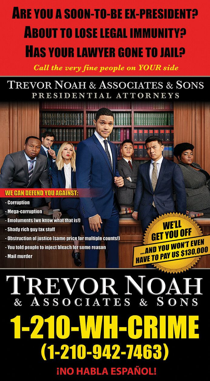 """""""The Daily Show"""" ad that was printed in three major U.S. newspapers."""