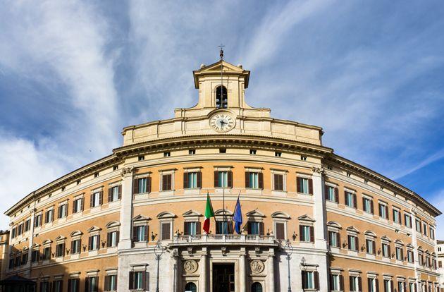 Italian parliament building in Rome in Piazza di Monte