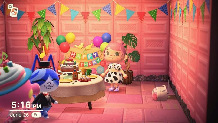 "An ""Animal Crossing"" birthday party, perhaps the closest we'll get to an actual party for a while."
