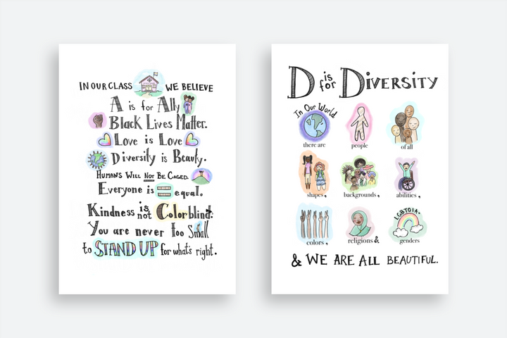 """Mom and artist Taimani Reed said she hopes her posters, including """"D is for Diversity,"""" make their way into classrooms across the country."""