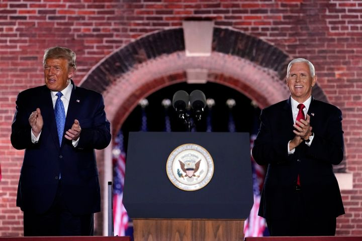 President Donald Trump and Vice President Mike Pence treated the coronavirus pandemic as if it were already over during the R