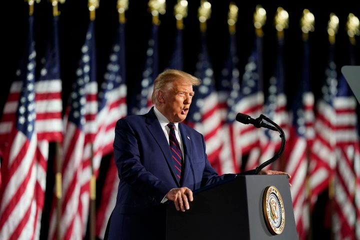 In Trump's remarks Thursday night, the president made it seem like the United States had already moved past the coronavirus p