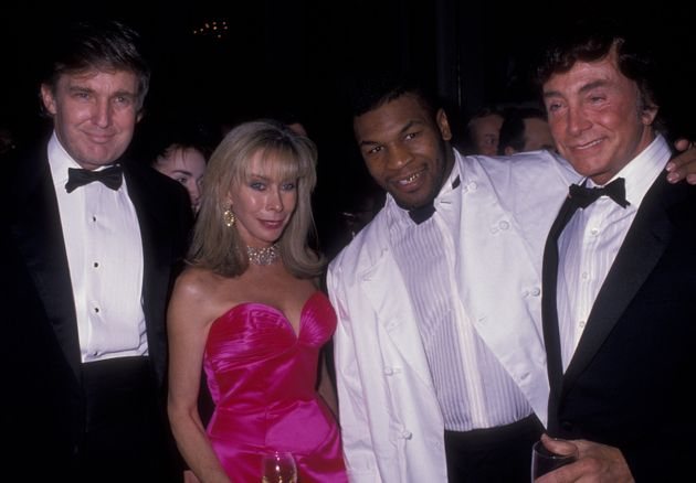 Donald Trump, Mike Tyson and other guests at a charity event in New York City in 1989, the year Trump...