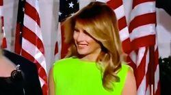 El comentado gesto de Melania Trump tras dedicarle esta sonrisa a