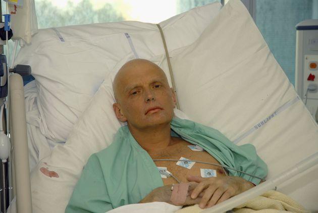 Alexander Litvinenko, en su hospital de Londres, en una imagen del 25 de noviembre de