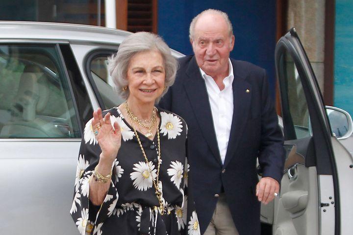 La reina Sofía y el rey emérito en Sanxenxo en verano de 2019.