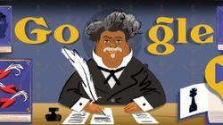 Google illustre (pour une fois) Alexandre Dumas sous les traits d'un homme