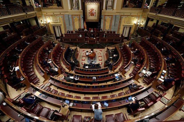 El Congreso de los Diputados el pasado 6 de mayo, en una de las sesiones de prórroga del estado de