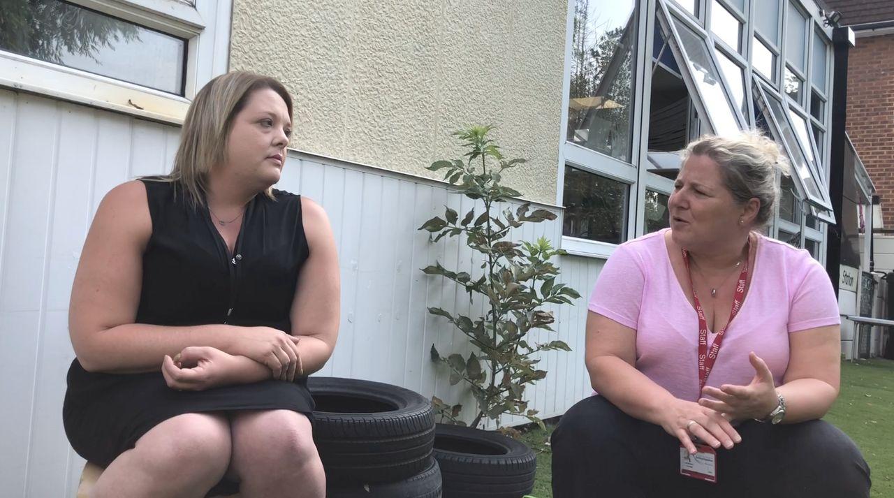 Tanya Sawyer (left) and Tina Georgiou, pictured at Eastbury Nursery.
