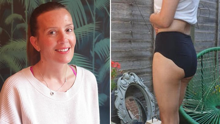 Kelly Newton and the BP3 Underwear she designed.