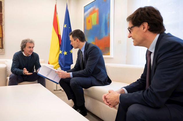 Illa, Sánchez y Simón reunidos para la gestión del