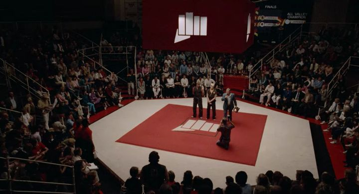 "The opening scene from ""Cobra Kai"" on Netflix."