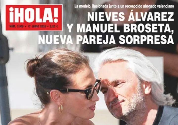 Nieves Álvarez y Manuel Broseta en Ibiza.