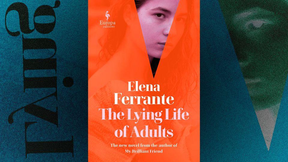 Montagem realizada com capa da edição norte-americana do novo livro de Elena