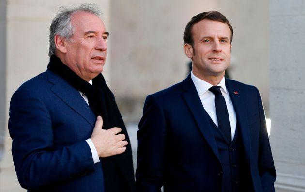 Emmanuel Macron a confirmé la nomination de François Bayrou, ici le 13 janvier à...