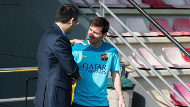 Messi y Bartomeu, juntos... eran otros