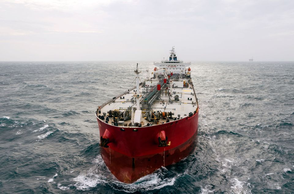 The tanker in the high