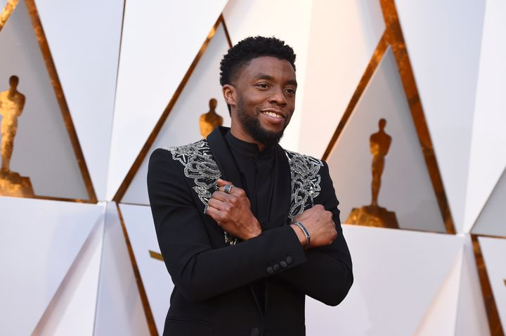 Actor Chadwick Boseman, who played Black icons Jackie Robinson and James Brown before finding fame as the regal Black Panther