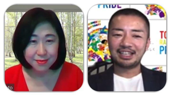 (左から)島本久美子さんと杉山文野さん