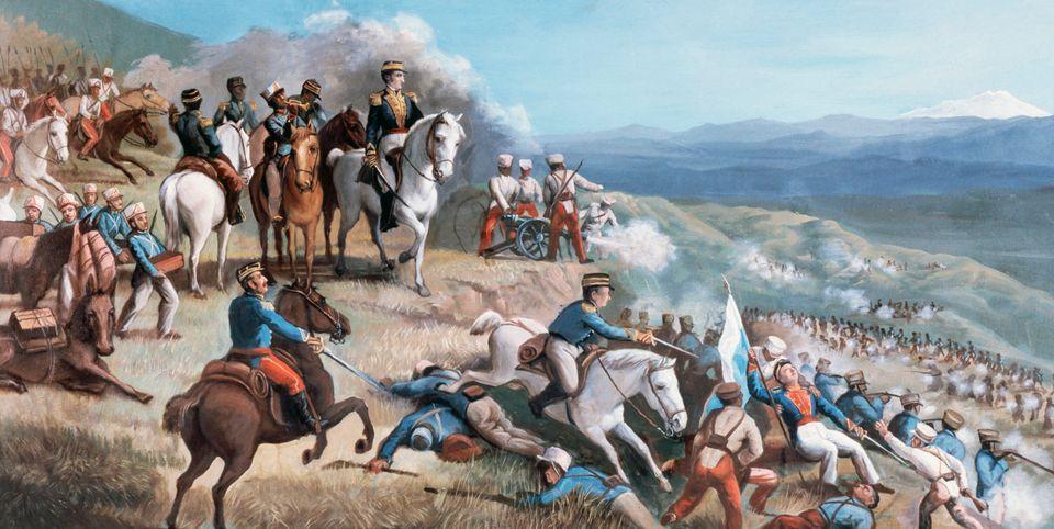 Battle of Ibarra (July 17, 1823), Ο Σιμόν Μπολιβάρ οδηγεί το στράτευμά του ενάντια στις ισπανικές δυνάμεις