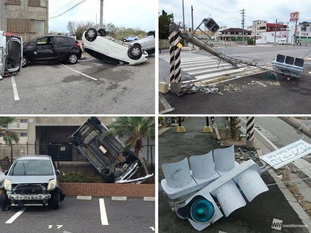 2015年8月に通過した台風15号による被害