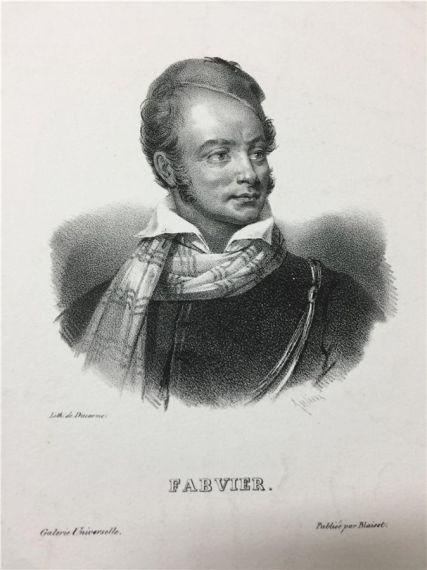 Λιθογραφία με πορτραίτο του Φαβιέρου, Συλλογή ΕΕΦ
