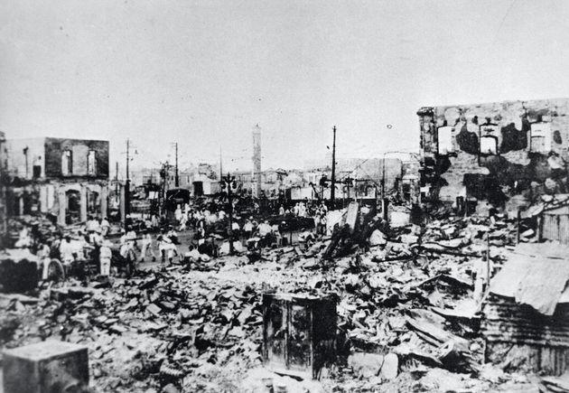 関東大震災後の東京・銀座周辺。