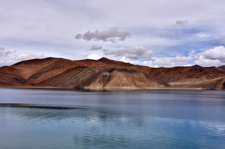 A view of Pangong Tso lake in Ladakh region July 27, 2019. Picture taken July 27, 2019. REUTERS/Mukesh Gupta