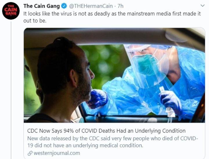 Herman Cain Tweet