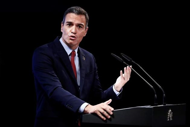 El presidente del Gobierno, Pedro Sánchez, este lunes en la Casa de América de