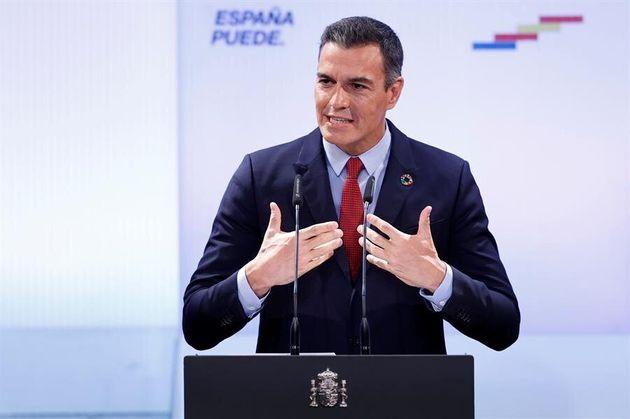 El presidente del Gobierno, Pedro Sánchez, comparece en la Casa de