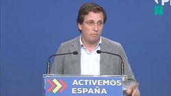 La cara de Martínez Almeida tras la frase de una periodista: le ha corregido