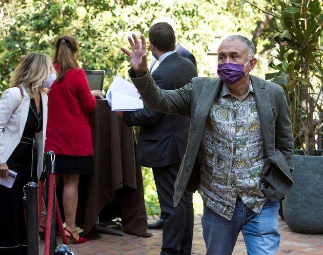El secretario general del sindicato UGT, Pepe Álvarez, llega al