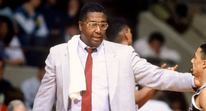 John Thompson, pictured coaching a game in 1990, also played in the NBA, backing up Bill Russell on the Boston Celtics.